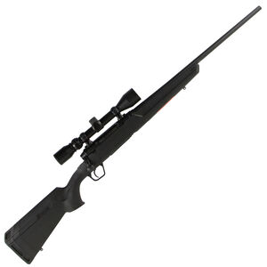 "Savage Axis XP Compact Bolt Action Rifle .243 Winchester 20"" Barrel 4 Rounds Detachable Box Magazine Weaver 3-9x40 Riflescope Synthetic Stock Matte Black Finish"