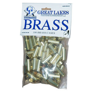 Great Lakes Firearms and Ammunition .44 Magnum New Unprimed Brass 100 Pack B687559