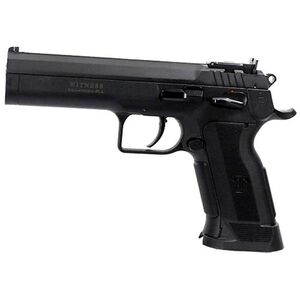 """EAA Witness P Match Single Action Semi Automatic Pistol .45 ACP 4.75"""" Barrel 10 Rounds Polymer Competition Frame Single Action Trigger Fully Adjustable Super Sight Black Finish"""