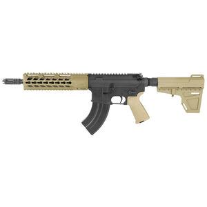 "Diamondback Firearms DB15 AR-15 7.62x39 Semi Auto Pistol 10"" Barrel 28 Rounds Free Float Hand Guard Shockwave Blade Stabilizing Brace Flat Dark Earth"