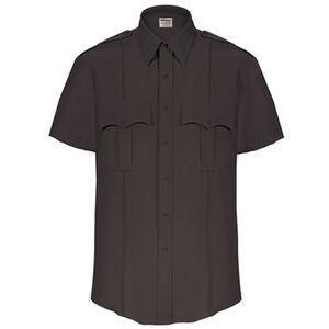 Elbeco Textrop2 Men's Short Sleeve Shirt Neck 20 100% Polyester Tropical Weave Black