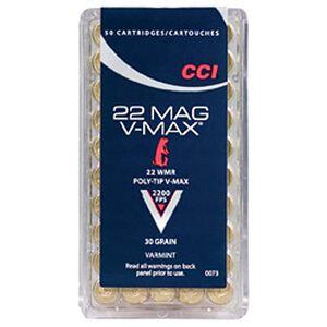 CCI Varmint .22 Magnum Ammunition 50 Rounds V-Max 30 Grains 0073