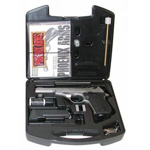 """Phoenix Arms Deluxe Range Kit .22 Long Rifle 3"""" and 5"""" Barrels 10 Rounds Satin Nickel"""