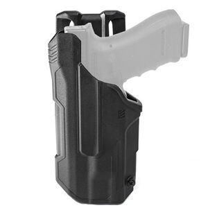 BLACKHAWK! T-Series Level 2 TLR 1 And 2 Light Bearing Duty Holster For GLOCK 17/22 Left Hand Polymer Black
