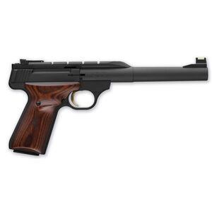 "Browning Buck Mark Hunter Semi Auto Pistol .22 LR 7.25"" Barrel 10 Rounds Fiber Optic Sights Wood Grip Matte Blued 051499490"