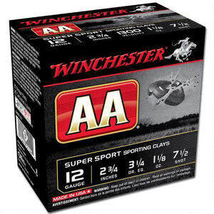 "Winchester 12 Gauge AA  2-3/4"" #7.5 Lead  25 Rounds"