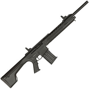 "Typhoon Defense X12 AR Style Semi Auto Shotgun 12 Gauge 18.5"" Barrel 3"" Chamber 5 Round Detachable Magazine Flip Up Sights Picatinny Top Rail Fixed Stock Black Finish"