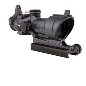 Trijicon ACOG 4x32 Riflescope Illuminated Amber Crosshair .223 Ballistic Reticle Aluminum Black with TA51 Mount and Backup Iron Sights Sniper Gray TA01-D-100317
