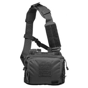 5.11 Tactical 2 Banger Bag Cross Body Strap 1050D Tear Resistant Nylon Black 56180-019