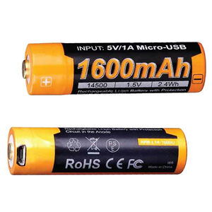 Fenix Tactical Rechargeable 14500 Battery 800  mAh 3.6V