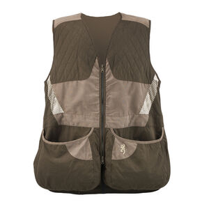 Browning Summit Men's Vest Polyester Small Chocolate/Taupe 3050316801