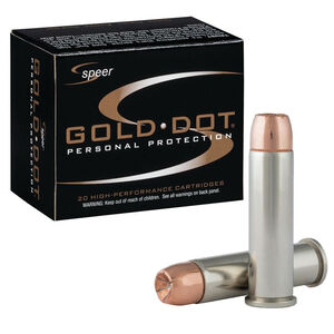 Speer Gold Dot Personal Protection .357 Magnum Ammunition 20 Rounds 158 Grain Gold Dot Hollow Point 1235fps