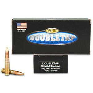 DoubleTap .300 Blackout Ammunition 20 Rounds Subsonic Sierra HPBT 240 Grains 300BLK240M