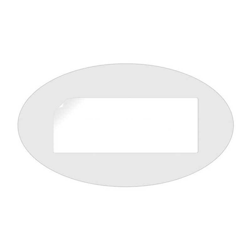 Gun Storage Solutions Blank Oval Cards Blank/White 50 Pack