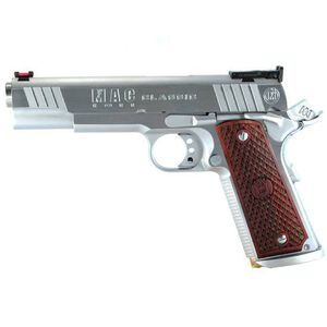 "MAC Classic 1911 Government Semi Automatic Pistol .45 ACP 5""Barrel 8 Round Capacity Hardwood Grips Hard Chrome Finish M19CL45C"