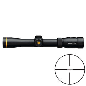 Leupold VX-R 1.5-5x33 Scout Rifle Scope FireDot Duplex Illuminated Reticle 30mm Tube .25 MOA Adjustment CR2032 Battery Second Focal Plane Matte Black Finish