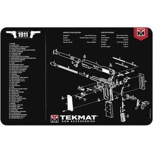 """TekMat 1911 Pistol Mat, Neoprene, Black, 11""""x17"""""""