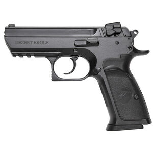 """Magnum Research Baby Desert Eagle III Semi-Compact Size Semi Auto Pistol 9mm Luger 3.85"""" Barrel 15 Rounds Combat 3 Dot Fixed Sights Steel Frame Matte Black Finish"""