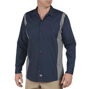 Dickies Men's Industrial Color Block Shirt L/S 2XL Tall Dark Navy/Smoke