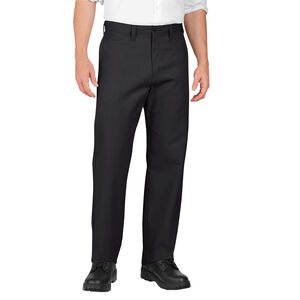 Dickies Men's Industrial Flat Front Pants Polyester / Cotton Waist 32 Length 32 Black LP812