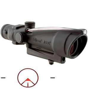 Trijicon ACOG TA11B Riflescope 3.5x35 Illuminated Red Circle Chevron Reticle with BAC 1/3 MOA Aluminum Matte Black with Carry Handle Mount TA11B