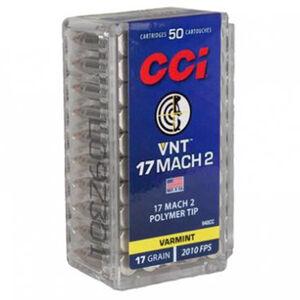 CCI Varmint .17 Hornady Mach 2 Ammunition 50 Rounds 17 Grain Speer Polymer Tip VNT Projectile 2010fps