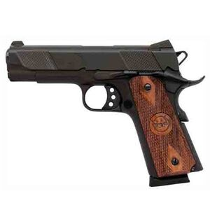 "Iver Johnson 1911A1 Hawk Semi Auto Pistol 9mm 4.25"" Barrel 8 Rounds Wood Grips Blue GIJ18"