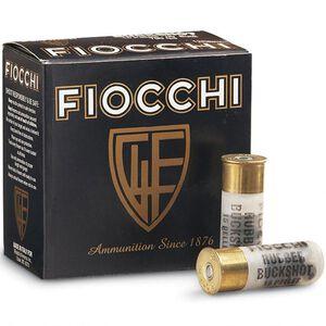 """Fiocchi LE 12 Gauge Ammunition 25 Rounds 2.75"""" Less Lethal 00 Rubber Buckshot 15 Pellets"""