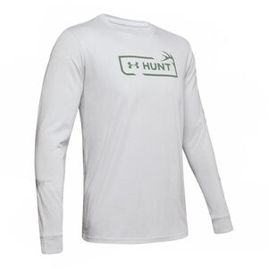 Under Armour Men's Hunt Logo Long Sleeve T-Shirt Cotton Blend