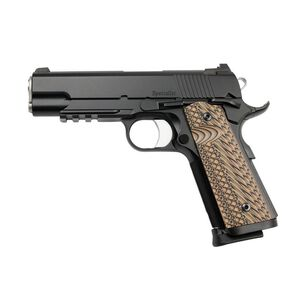 "Dan Wesson 1911 Specialist Commander Semi Auto Pistol .45 ACP 4.25"" Barrel 8 Rounds Fixed Night Sights G-10 Grips Stainless Steel Black Duty Finish"