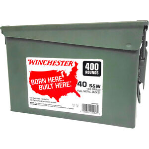 Winchester USA .40 S&W Ammunition 800 Rounds Two Ammo Cans 165 Grain FMJ 1060fps
