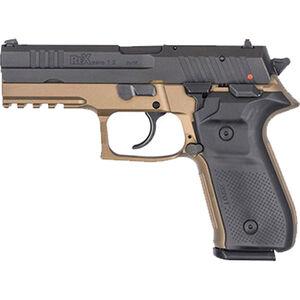 "FIME Group Rex Zero 1S 10S Semi Auto Pistol 9mm Luger 4.3"" Barrel 10 Rounds Metal Frame FDE"