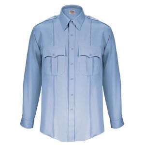 "Elbeco Textrop2 Men's Long Sleeve Shirt Neck 18.5 Sleeve 37"" 100% Polyester Tropical Weave Blue"