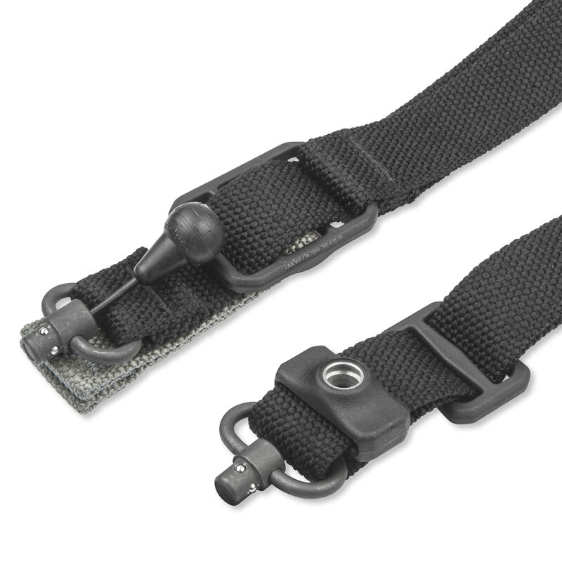 Blue Force Gear Padded Vickers 2 to 1 Sling Red Swivel Acetal Adjuster and Hardware Nylon Black