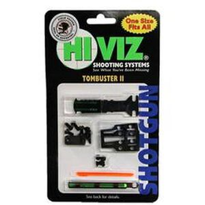 HiViz TomBuster II Sight Set for Shotguns Interchangeable Red & Green Front