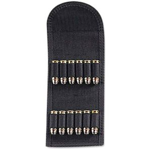 Uncle Mike's Folding Handgun Cartridge Carrier 12 Rounds Nylon Black 88441