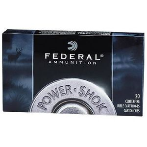Federal Power-Shok 7mm-08 Remington Ammunition 20 Rounds JSP 150 Grains 708CS