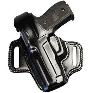 """Galco Fletch Belt Holster 1911 5"""" Full Size Pistol Left Hand Leather Black FL213B"""