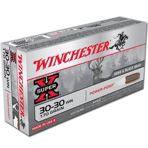 Winchester Super X .30-30 Winchester Ammunition 20 Rounds JSP 170 Grains X30303