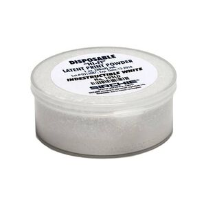 Sirchie Hi-Fi Volcano Latent Print Powder 1 Ounce Indestructible White 103LD