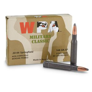 Wolf Military Classic .30-06 Springfield Ammunition 500 Rounds JSP 168 Grains