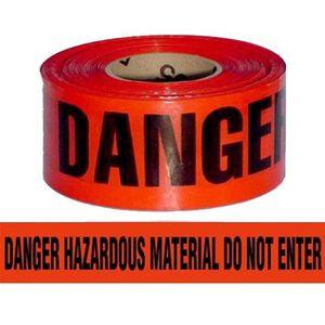 "Pro-Line Barricade Tape 1000' ""HazMat"" Tape 3"" Width BT3RHAZMAT"