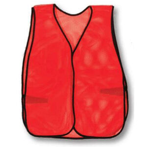 Pro-Line Safety Plain Vest Velcro Closure  Polyester Mesh Orange SP00
