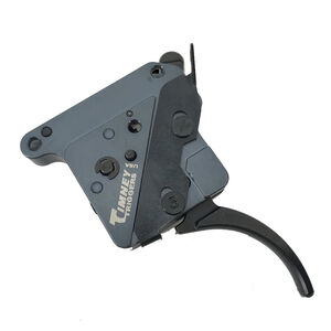 """Timney Trigger Remington 700 """"The Hit"""" Trigger Drop In Replacement Trigger Adjustable Pull Weight Curved Trigger Shoe Aluminum Housing Black Finish"""