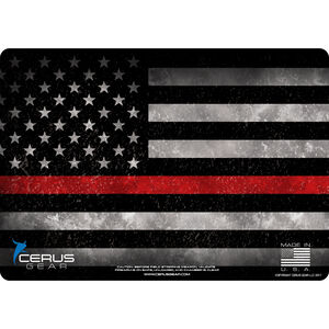 "Cerus Gear Thin Red Line ProMat Handgun Size 12""x17"" Synthetic US Flag with Red Line"