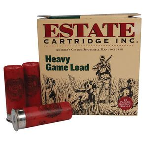 """Ammo 12 Gauge Estate Cartridge Heavy Game 2-3/4"""" #8 Lead 1-1/8 Ounce 1255 fps 25 Rounds HG128"""