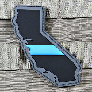 "Violent Little Machine Shop ""Thin Blue Line"" State of California Morale Patch"