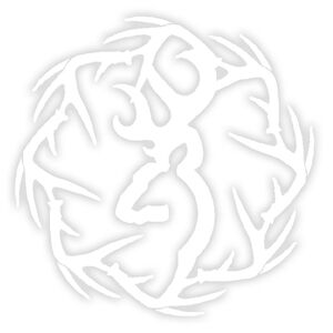 """Browning Sheds Decal 6"""" Vinyl White"""