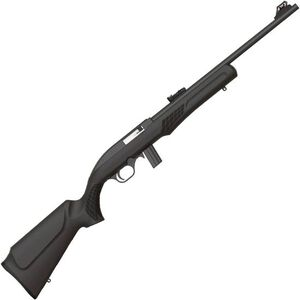 "Rossi RS22 .22 LR Semi Auto Rimfire Rifle 18"" Barrel 10 Rounds Fiber Optic Sight Synthetic Stock Matte Black Finish"