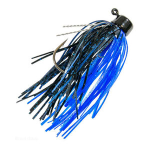 Z-man Finesse Shroomz Micro Jig Lures 1/8 oz Blue/Black 2 Pack